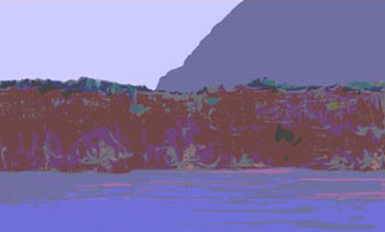 Hudson and Catskills (digital painting, PS)